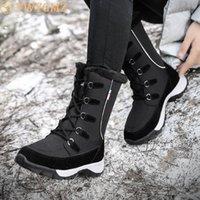 2020 حذاء جديد الرحلات في الهواء الطلق MidCalf أحذية الموضة ستوكات أحذية نسائية المرأة التنزه شتاء دافئ القطيفة المرأة سنو