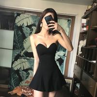 2021 Novo Verão coreano Up Peito Edition Dress Sexy Skinny Temperamento Bra Saia Curta Linha Vestida como Princesa 90cx