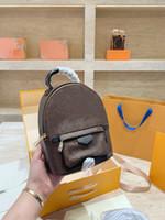 2020 Fashion Liscio Zipper Mini Zaino Genuino Pelle Bambini Bambini Brown Brown Stampa Zaino Spedizione gratuita