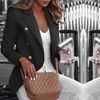 Frauenanzüge Blazer Button Damen Blazer Frau 2021 Arbeit Anzug Jacke Weibliche Büro Lady Formale Frauen und Jacken Femme