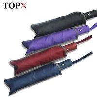 Topx New Creative 3fold Light Ombrello Automatico Automatico Resistente agli uomini 4 colori Maniglia ombrello Uomini da pioggia Donne Prezzo all'ingrosso 201111