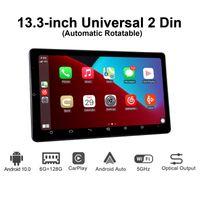 Nuevo producto 13.3 pulgadas Android 10 Coche Radio Estéreo 2 DIN AUTORADIO HD 1920 * 1080 6GB 128GB Unidad de cabeza Multimedia Carplay Top Specs Car DVD