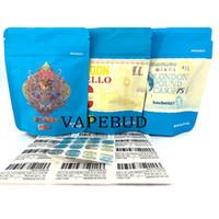 Lemonchello 3.5 حقائب الكوكيز التعبئة والتغليف 420 رونتز مخصص مايلر البلاستيك سستة حقيبة الرائحة الظهر مع 3D الهولوغرام ملصقات الملصقات