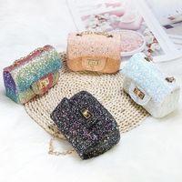 Monederos y bolsos para mujer 2020 Lindas Shinny Crossbody Bolsas para niños Niñas Pequeña moneda de monedas Bebé Bolsa de embrague 1