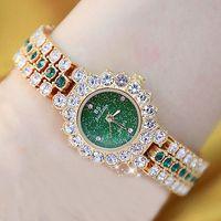 женщины смотреть известные люксовые бренды кристалл алмаз из нержавеющей стали Малых женских часов для женщин Часов наручного Relogio Feminino 201114