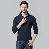 Mens Manica lunga da uomo Polos Moda Policoltura Policoltura Uomini Heren Cotton Hombre Casual Poloshirt solido Homme Homme Homme High Quality Brand Plus 12 12