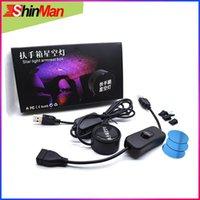 Shinman 슈퍼 쿨 USB 자동차 팔걸이 상자 starlight 내부 빛 레이저 프로젝터 램프 모든 car1에 대 한 장식 분위기 빛