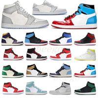 50 + Color [con caja] 2021 hombre para mujer Jumpman Treyless Chicago Chicago Bred Toe Obsidian Mocha Satin Retro Shoes 1 1S Sneakers de baloncesto para hombre 36-45 66 #