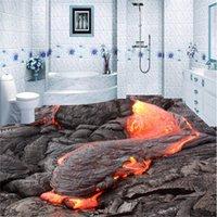 foto beibehang personalizzato carta da parati indossare adesivi piano PVC3D pittura parete spessa 3D muro rotto magma vulcanico pittura piano 3D