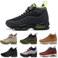 nike air max 95 nero scuro Loden rosso verde impermeabile 95s chaussures scarpe da corsa alte scarpe da ginnastica firmate Sneakers sportive da uomo alla caviglia