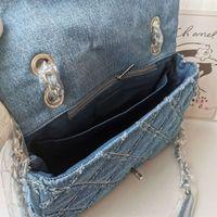 Designer- Neue Modedesigner Damen Tasche Kette Messenger Bag Kleiner Schultertaschen Denim gewaschen Retro Handwerk Shouder Taschen