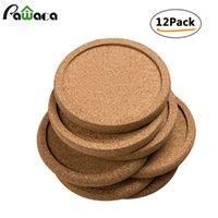12 unids liso redondo corcho Posavasadores de taza de café Taza de taza Tea Pad Placemats Mesa de vino Mats Decor Accesorios de cocina T200708