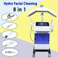 Nuovo aggiornamento 8 in 1 Hydra Facial Dermabrasion Acqua Aqua Oxygen Spray Gun RF Hydro Microdermabrasion Peeling Pelle per vuoto Pelle pulita