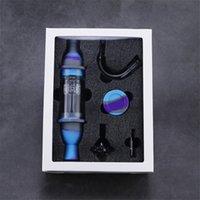 NECTAR Collector Premium-Tabak-Tasche Set Wachsbehälter Silikonbong mit Titan-Nagel-Speicher-Jar-Metall-Dabberraucher
