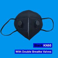 DHL سريع الشحن المتاح 5-6ply meltbrown قناع الوجه صمام الغبار قناع مع تنفس صمام مع جهاز تنفس أسود رمادي أبيض أسود قناع 2020