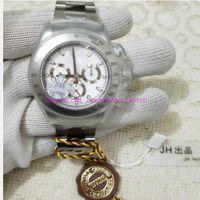 JH versão luxuosa 116520 masculino automático ETA 4130 movimento relógios de aço inoxidável Bezel luminoso cronógrafo esporte mergulho