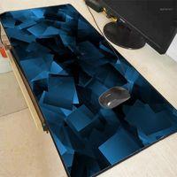 XGZ Azul Formas Abstract Gaming Computador Computador Mousepad Grande Jogo De Borracha Bloqueio Borda Mouse Pad Anime Grande Mause Mause Para PC Laptop1