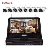 Loosafe 1080P نظام كاميرا الأمن اللاسلكية الدوائر التلفزيونية المغلقة سجل الصوت المنزل في الهواء الطلق للرؤية الليلية كيت نظام المراقبة NVR Kits1