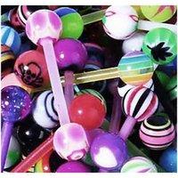 10 20 30pcs akryl tunga piercing barbell lot mix tunga piercing plast lot nippel bartongue ring pack piercing lengua lote f sqcltk