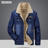 Além de veludo Denim Men Jacket Bomber Moda 2020 Casual New Inverno Marca Exército AFSTactical Militar jaqueta masculina