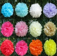 Colorful Tissue Paper Flowers Ball Craft paper flowers Pom poms for Christmas wedding Party Birthday decoration Supplies