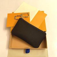 2021 Anahtar Kılıfı Pochette Cles Tasarımcılar Moda Bayan Erkek Anahtarlık Kredi Kartı Tutucu Sikke Çanta Lüks Mini Cüzdan Çanta Deri Çanta