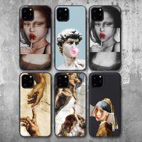 Para iPhone 6S 12 7 8 Plus caso del arte abstracto pintado para el iPhone 11 Pro XR XS Max SE 2020 silicona teléfono Caso suave TPU