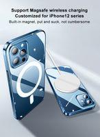 Caso de proteção Magsafe para iPhone 12/13 Mini / 12 Pro / 12 Pro Max Suporte Magnético Carregador Sem Fio Capa Iphone 13 Pro Case Magsafe