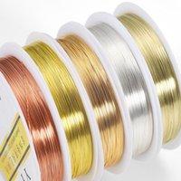 1 لفة 0.2-1.0mm جودة عالية اللون الحفاظ الأسلاك النحاسية الديكور سلسلة الحبل النتائج diy سلسلة للمجوهرات صنع jllmqr