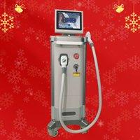 Máquina de remoção de cabelo laser de diodo vertical eficaz com três comprimento de onda 808nm + 755nm + 1064nm para terno de spa / clínica / salão para todos os tipos de pele