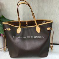 Hohe Qualität Frauen Einkaufstasche Handtasche Schulter Geldbörse Datum Code Seriennummer Kontrolleure Tasche Gitter Blume