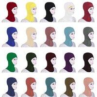 Abbigliamento etnico Abbigliamento musulmano Donne di Underscarf Cap Soft Soft Bonnet Ninja Hijab Cappello Collo Cover Cover Cover Cover Autore Arabi Arab Amira Turban ISlamici Niquabs Hijabs Moda
