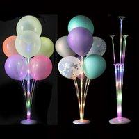 LED 가벼운 공기 공 스탠드 홀더 열 아이 생일 파티 풍선 스틱 웨딩 테이블 장식 Baloon 헬륨 Globos 성인 Ballon EWD4786