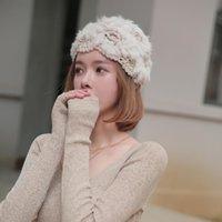 Real Pelzbeanie Hut gestrickte Kaninchen-Haar-Crochet Netter Winter warm Cony Wolle Trendy Mädchen Cap Frau Mode-Hut