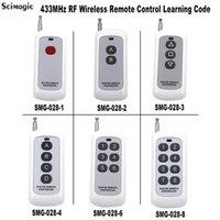 433 ميجا هرتز 1ch 2ch 3ch 4ch 6ch 8ch اللاسلكية التحكم عن بعد الارسال 1 2 3 4 6 8 أزرار التعلم رمز 1