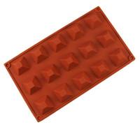 Silikon Çikolata Kalıp Piramit Reçine Sabun Kalıpları Buz Şeker Jello Sakızlı Kalıp Kek Pişirme Tatlı Pasta Kalıp