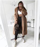 المرأة الفراء فو المرأة معطف الخريف الشتاء 2021 عارضة الصلبة طويلة الإناث خمر جاكيتات أفخم معطف chaqueta موهير