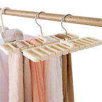 Сплошной цвет складной палочкой ремень шелковый шарф галстук хранения стойки домашнего прямоугольника шкафа полка дома нового 5YL G2