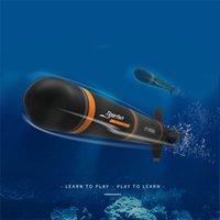 الكهربائية rc الغواصة البلاستيك قارب طوربيد الجمعية نموذج أطقم diy اللعب اللامنهجية الاطفال هدايا استكشاف البحر 201204
