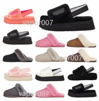 Con caja 2021 Diseñador Snow Scuffette Disco Checker II Mujeres Clásico Zapatos de diapositivas para mujer Chica Lady Winter 35-42 U3V1 #