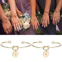 Braccialetto iniziale Braccialetto di San Valentino regalo Dono damigella d'onore regalo di nozze Souvenir Party Favore regalo per la fidanzata W-00588