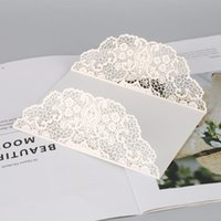 Tarjetas de felicitación Blancas 10 unids Láser vertical Cut Butterfly Invitaciones Kits para boda Ducha nupcial Fiesta de aniversario de cumpleaños