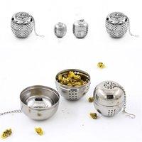 Boules à thé en forme d'oeuf en acier inoxydable Tea Infuser Mesh Filtre Filtre Verrouillage Tea Feuille de thé Feuille d'épice avec crochet à la corde 44 p2