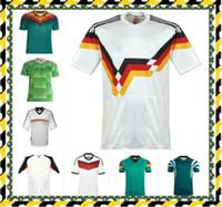 Coupe du monde 1990 1998 1988 Allemagne Rétro Littbarski Ballack Soccer Jersey Klinsmann Matthias 2006 2014 Chemises Kalkbrenner 1996 2004