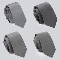 Alta calidad 2020 nuevos diseñadores marcas moda negocio casual 5 cm delgados corbatas para hombre corbata trabajo formal con caja de regalo gris1