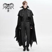 الشيطان أزياء الرجال الشرير مصاص دماء نايت كيب القوطية غير النظامية هيم تأثيري المرحلة الأداء هالوين البدلة