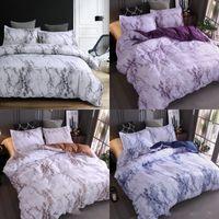 Padrão de pedra conjunto de cama planície multi colorido simplicidade colcha capa travesseiro case de cama rainha edredons Define Nova Chegada 42XQ K2