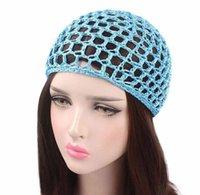 Ny handgjord hakan stickad kufi hatt för kvinnor mode stickad koopy cap crochet beanie sova hattar bonnets kemo kepsar