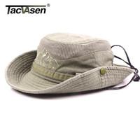 TACVASEN Erkekler Taktik Şapka Güneş Boonie Şapka Yaz Güneş Koruma Cap Erkekler Safari Ordusu Balık Avı Şapka Ayarlanabilir Caps