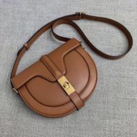 2020 جديد واصلي حقيبة جلدية الكتف حقيبة الخاص للاهتمام تصميم نصف دائرية السرج حقيبة إمرأة قفل معدني صغير ساحة عصري Crossb